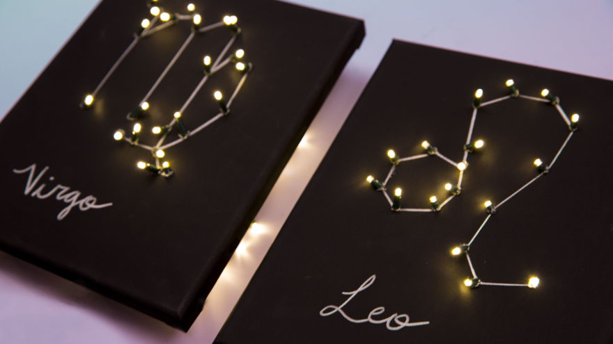 Create Your Own DIY Light Up Zodiac Sign Makeful