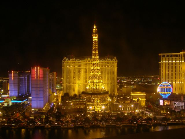 Las Vegas at night from Bellagio