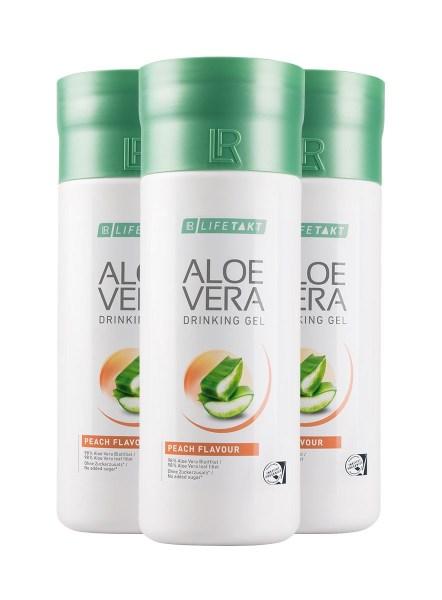 LR LIFETAKT Aloe Vera Drinking Gel Peach Flavour   Aloë Vera Drinking Gel Perzik - Set van 3