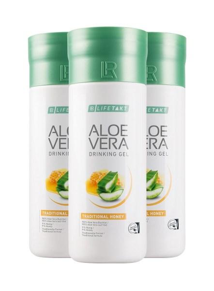 LR LIFETAKT Aloe Vera Drinking Gel Traditional Honey | Aloë Vera Drinking Gel Honing - Set van 3