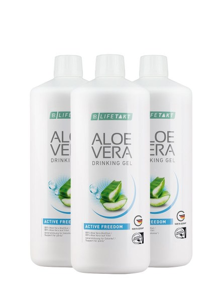 LR LIFETAKT Aloe Vera Drinking Gel Active Freedom | Aloë Vera Drinking Gel Freedom - Set van 3