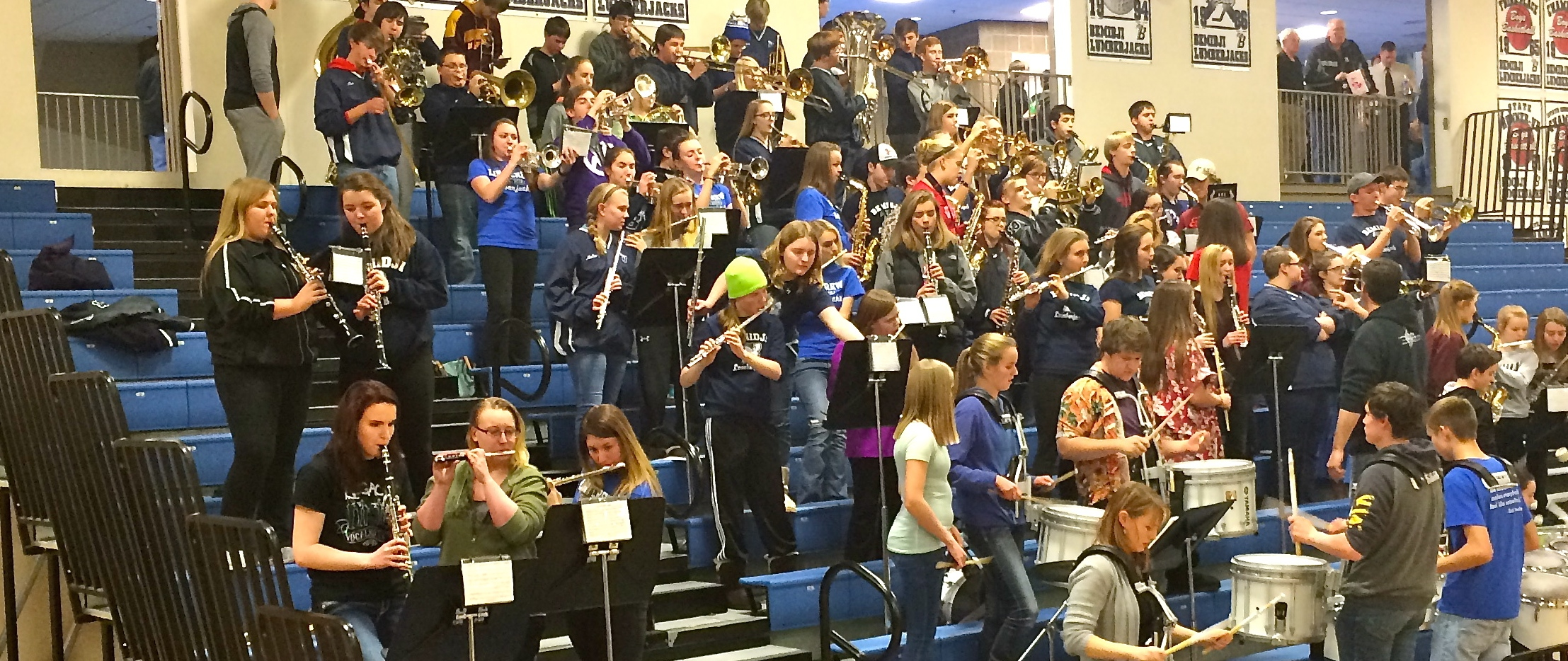 8th Graders Play With Hs Pep Band Bemidji Middle School