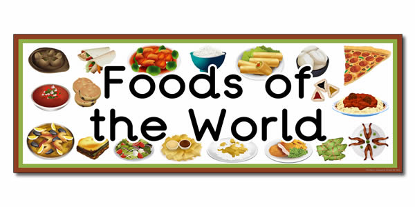 how to explain food from around the world