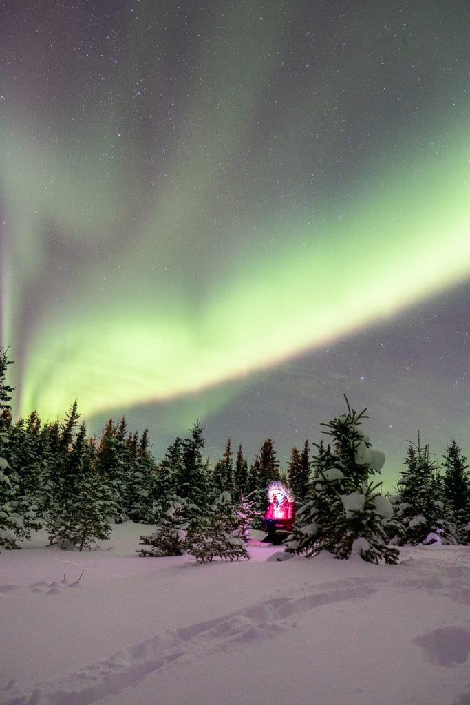 alaska in winter aurora borealis