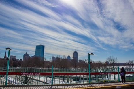Boston, vue depuis l'arrêt de métro Charles-MGH