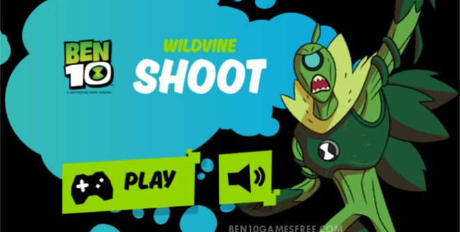 Ben 10 Wildvine Shoot Game