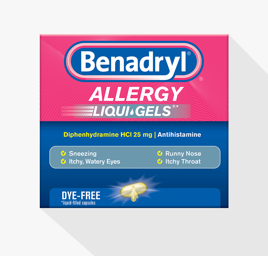 Image Result For Benadryl Allergy Liqui Gels Dye Free