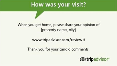 Carte de rappel personnalisée Trip Advisor