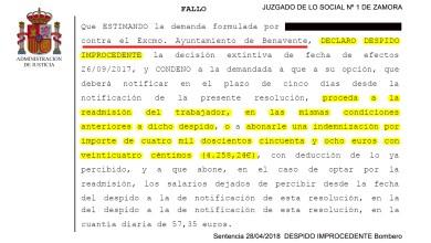 Photo of Las sentencias condenatorias desmienten al Concejal de Personal de Benavente