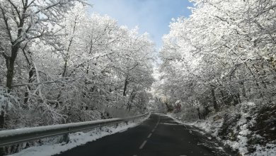 Photo of Las carreteras de la comarca de Sanabria han amanecido con esta estampa