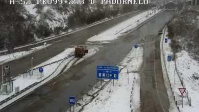 Photo of La alerta amarilla deja importantes nevadas en Sanabria y carreteras afectadas