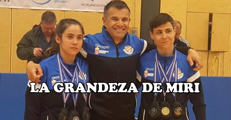 Photo of La jugadora Caja Rural, Miri, Campeona de Europa de Lucha Escocesa