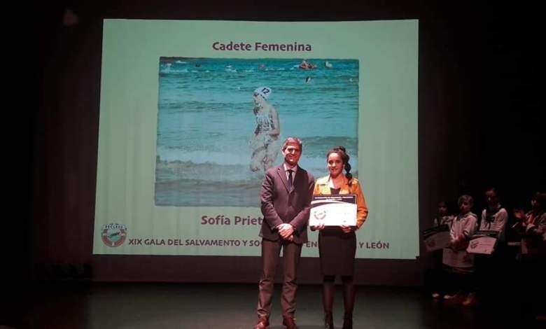 Photo of Sofía Prieto galardonada como mejor socorrista cadete de Castilla y León