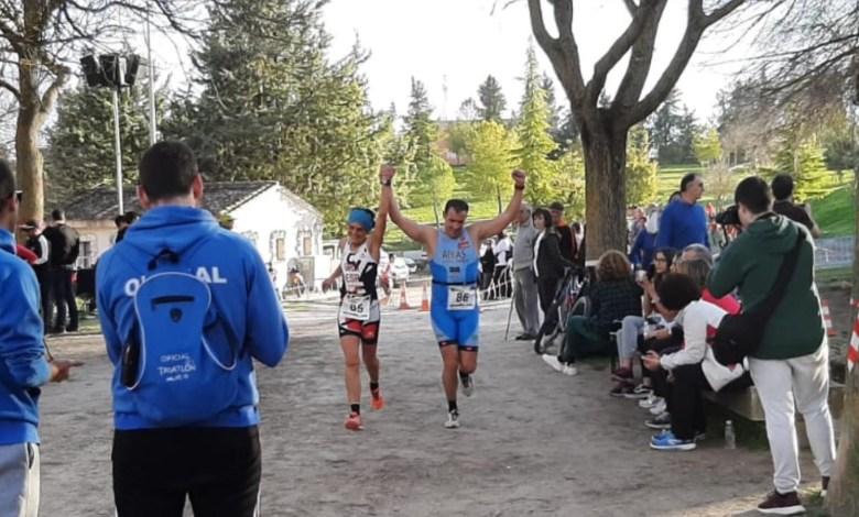 Photo of Alberto y Pepa segundos en el duatlon cros de Cuéllar