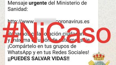 Photo of Alerta por un mensaje de WhatsApp que se hace pasar por el Ministerio de Sanidad