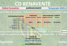 Photo of Arranca el proyecto de Fútbol Formativo del CD Benavente para la temporada 2020-21