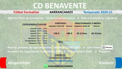 Photo of Arranca el proyecto de Fútbol Formativo del CD Benavente para la temporada 2020-21