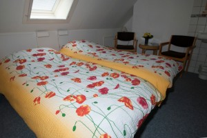 Kamer 1: 2 x 1 persoonsbed