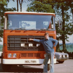 Ken Benbow and ERF lorry