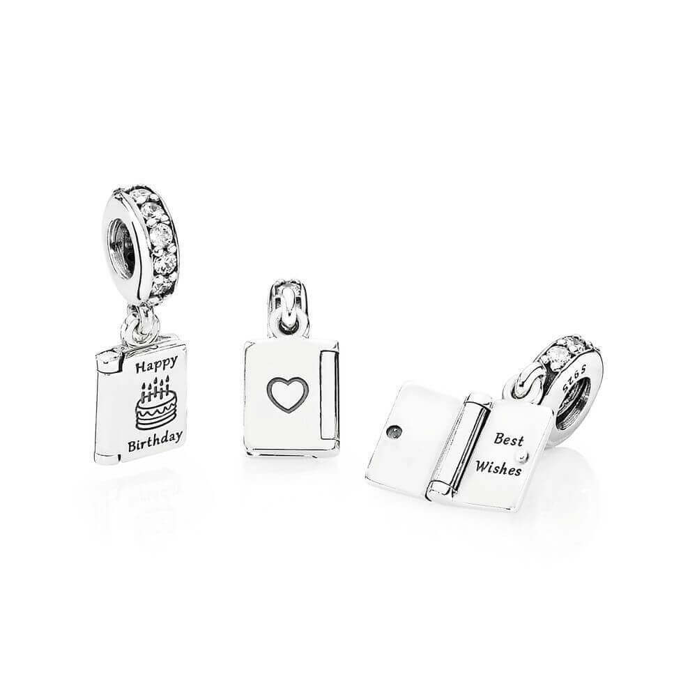 Pandora Birthday Wishes Charm 791723CZ Ben Bridge Jeweler