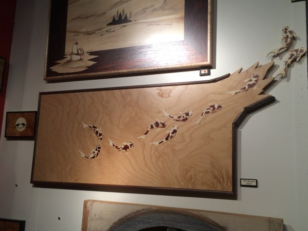 Escaping fish - art