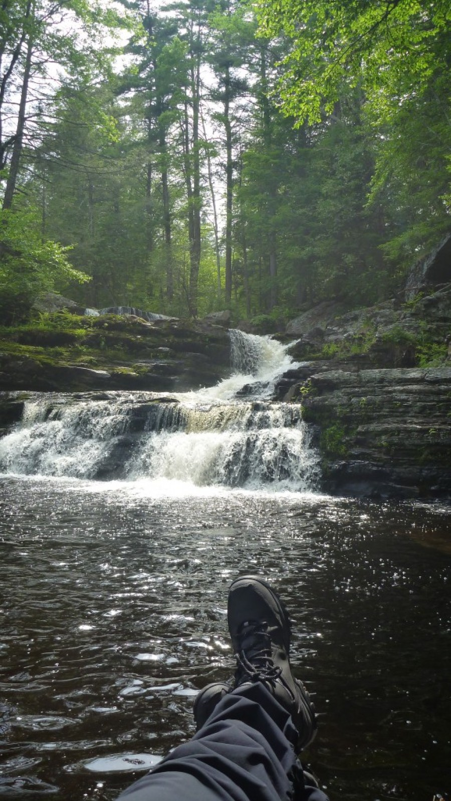 Hiking in the Pocono mountains