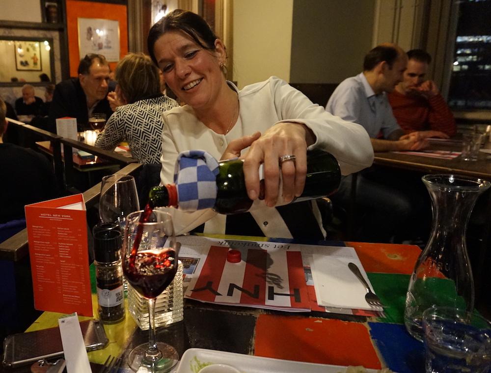 dinner and wine at hotel new york restaurant rotterdam