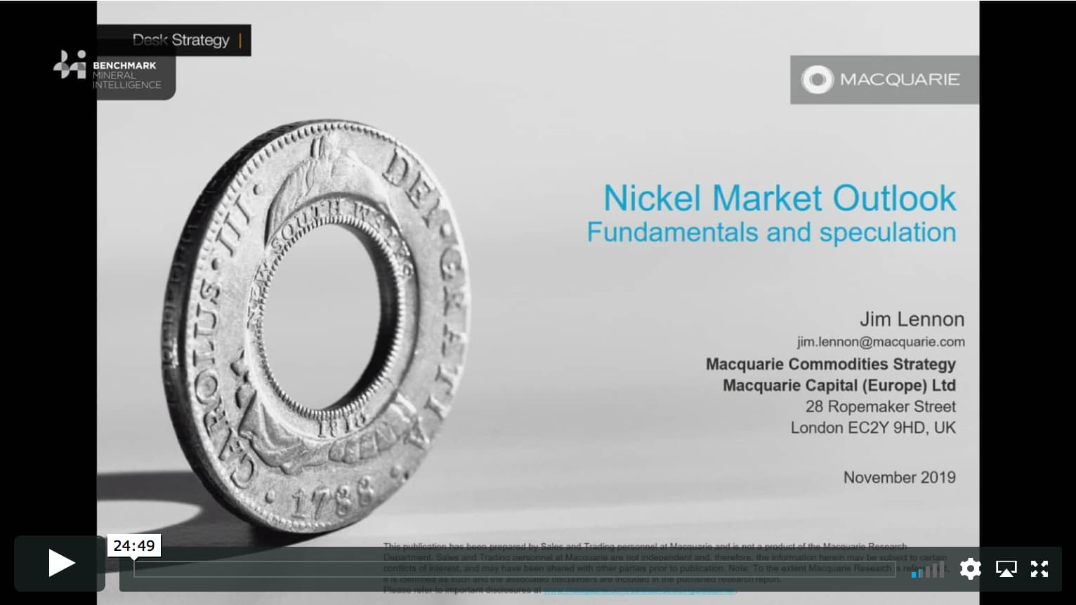 Nickel market outlook: fundamentals and speculation