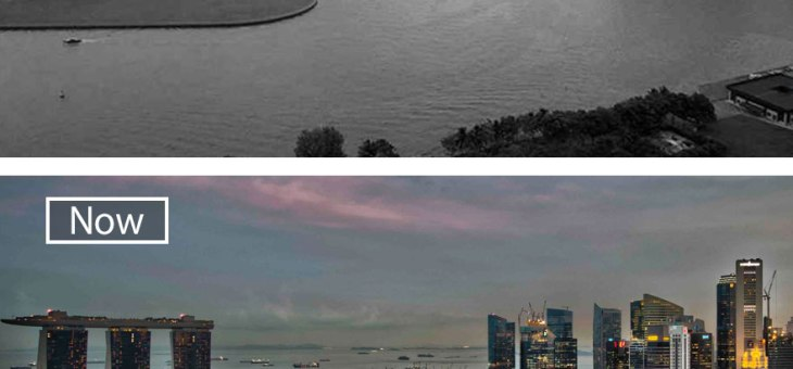 Marina Bay – now and then