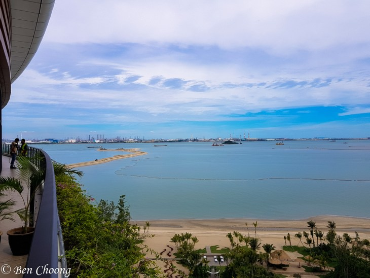 In the background is Tuas Singapore
