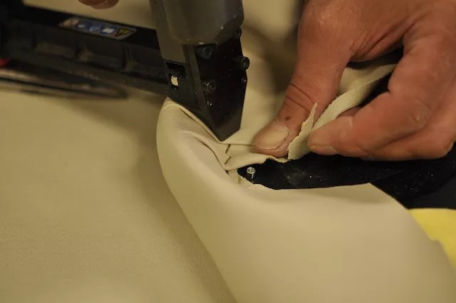 THREE SIXTY Precision Repairs Final Stapling of Reupholstery Picture