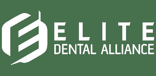 elite dental alliance white logo