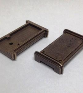 Metal flashdrive parts from Shapeways