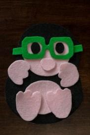Maulwurf mit Brille aus Filz 2