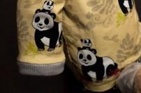 Schlupfshirt gelb mit Pandas 4
