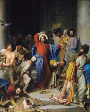 Carl Bloch - Jesus Clearing the Temple