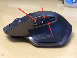 Extra buttons on the Logitech MX Master mouse