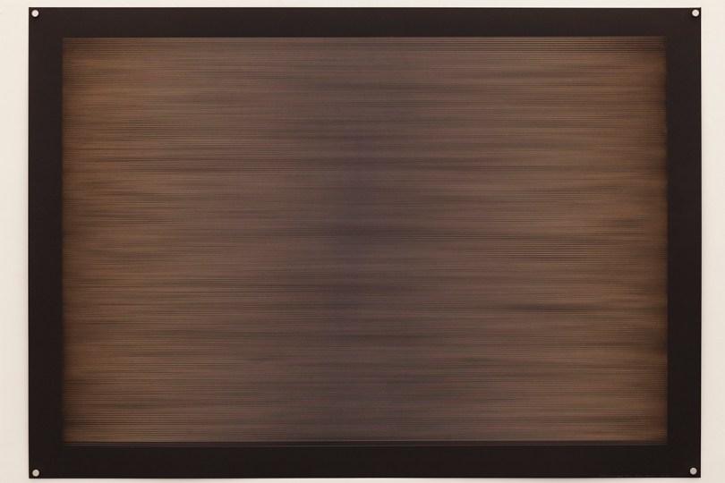 Laser multi-phase no.1, 2015, 100x70cm, 445nm laser on paper