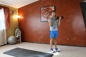 Lunge Curl & Press: Part 1