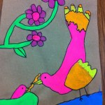Flourescent painting by 2nd grader