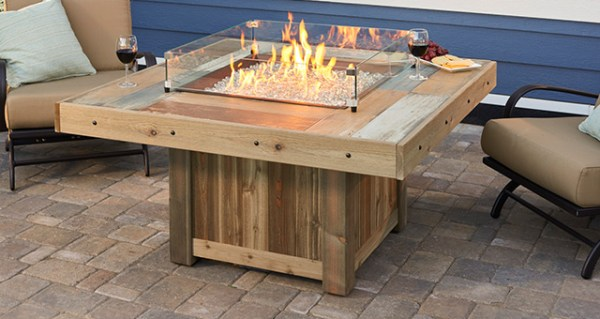 Square Vintage 2424 Fire Table