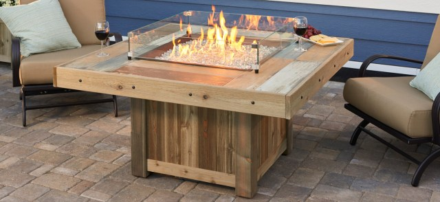 Farmhouse Outdoor Gas Fire Pit