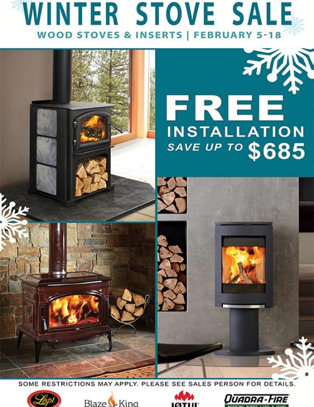 QuadraFire Winter Wood Stove Sale