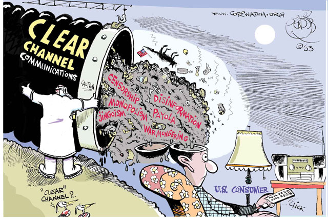 Clear Channel censorship, cartoon