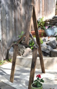 Rustic Easel Rental for Wedding Welcome Sign