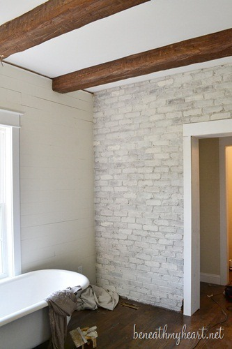 Whitewashed Brick - DesignLively