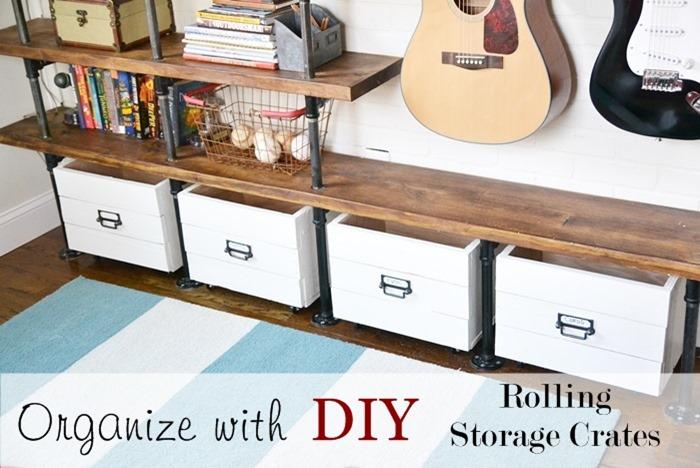 ... Diy Rolling Storage Crates