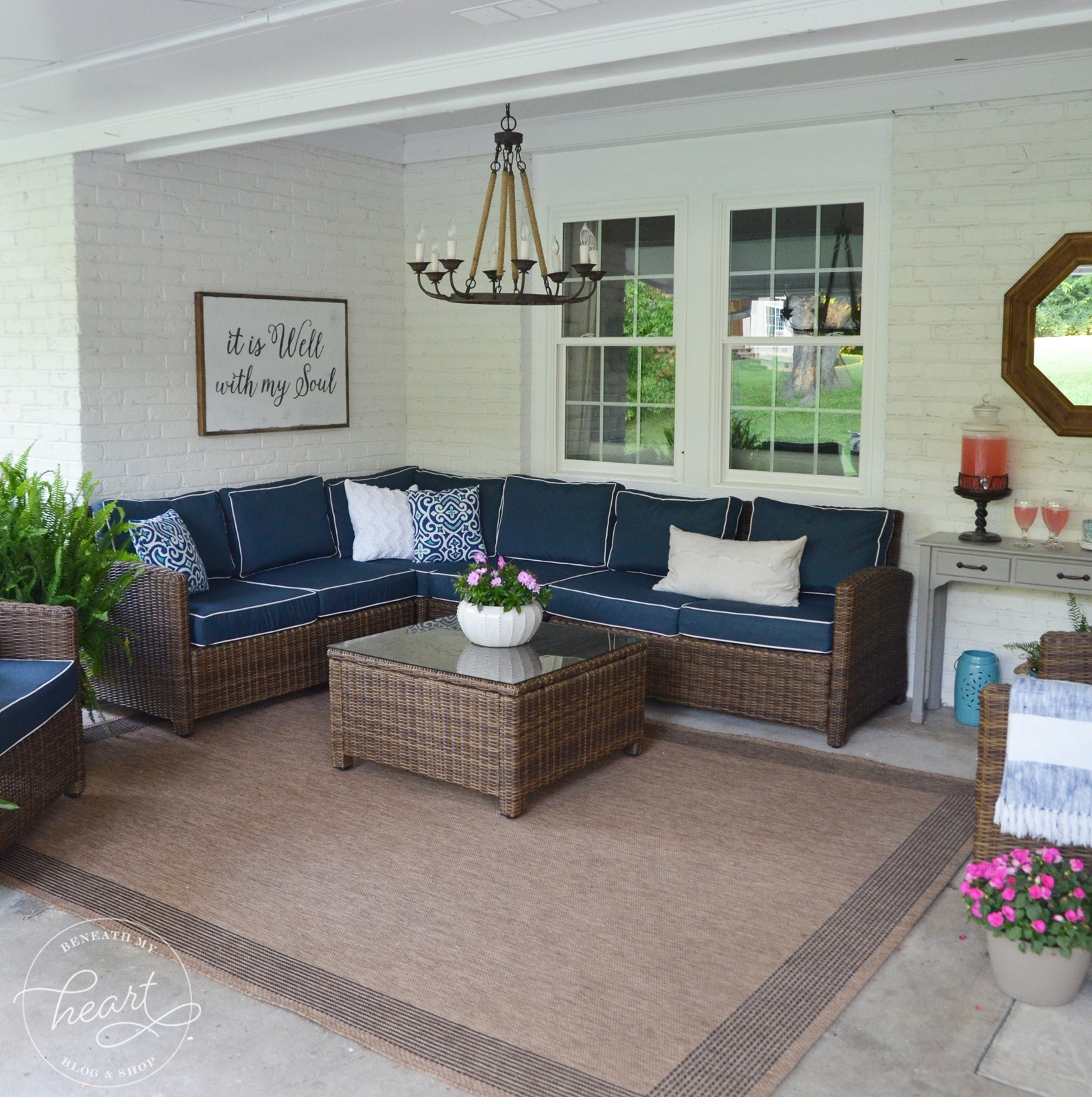 Changing our Back Patio Door to Windows - Beneath My Heart on Backdoor Patio Ideas id=34494