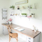 Diy Butcher Block Desk For My Home Office Beneath My Heart