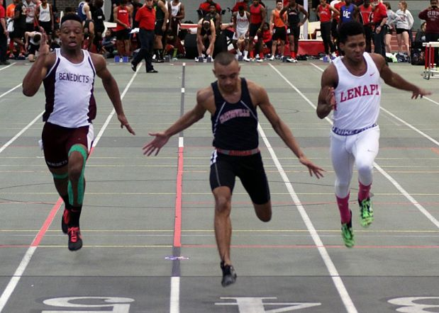 Senior Khalil Flemming (left) returns this season after missing the entire track preseason.